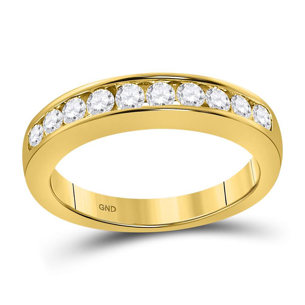 0.50 CTW Diamond Wedding Ring 14KT Yellow Gold - REF-52N4F