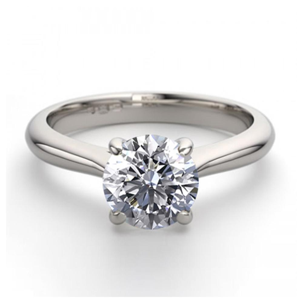14K White Gold 1.24 ctw Natural Diamond Solitaire Ring - REF-363Z8F-WJ13213