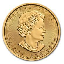 One pc. Canada 1 oz .9999 Gold Maple Leaf Brilliant Uncirculated