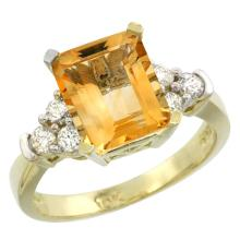Natural 2.86 ctw citrine & Diamond Engagement Ring 14K Yellow Gold - SC-CY409167-REF#65A2V
