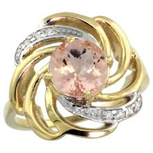 Natural 1.75 ctw morganite & Diamond Engagement Ring 14K Yellow Gold - SC-R297241Y13-REF#70M5H