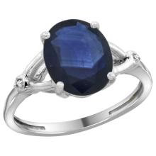 Natural 2.41 ctw Blue-sapphire & Diamond Engagement Ring 14K White Gold - SC-CW416112-REF#94Y6X