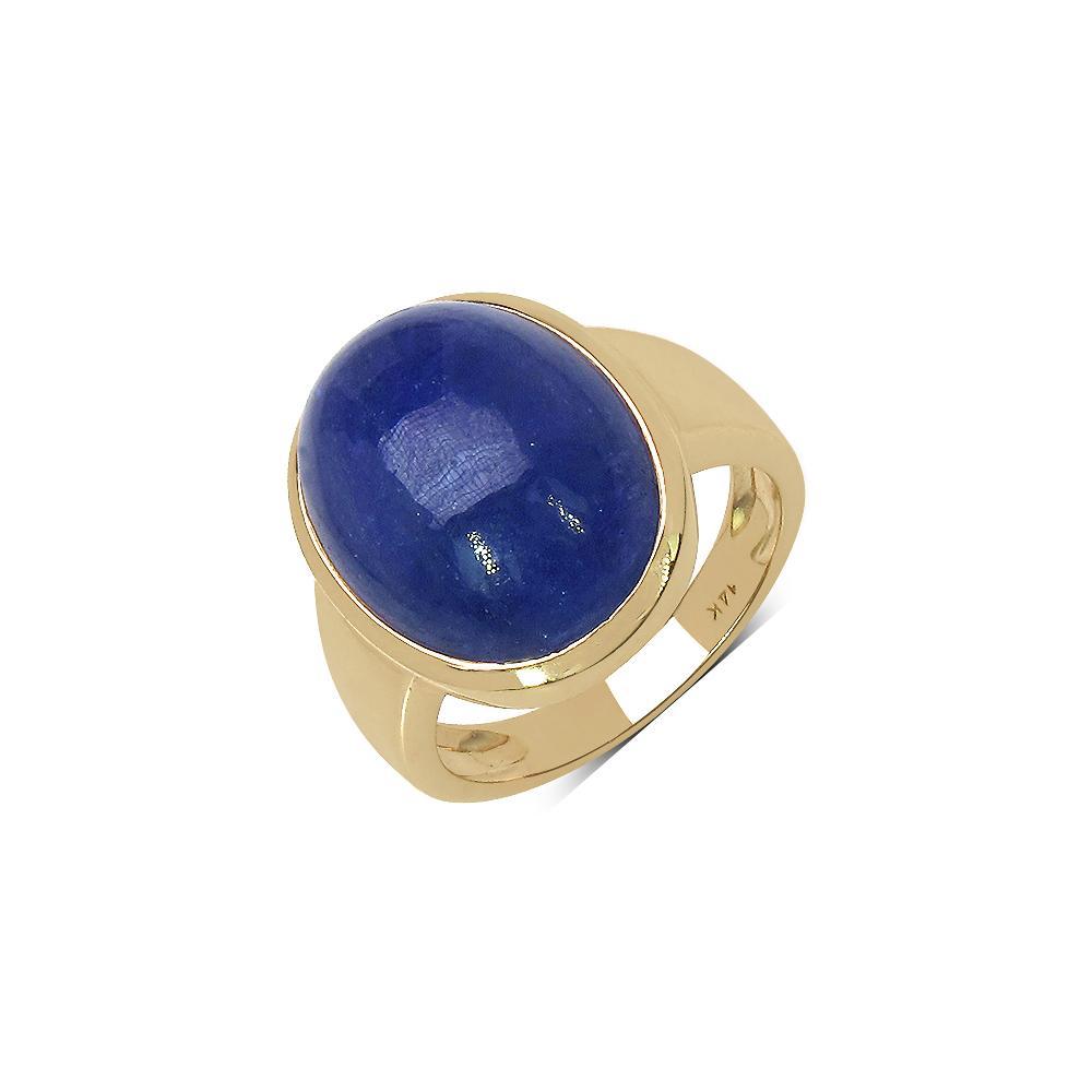 19.80 CTW Tanzanite Ring 14K Yellow Gold - REF-80X6R