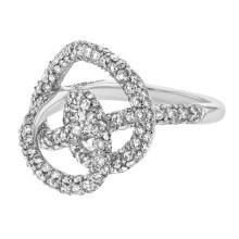 Genuine 2.68 CTW Diamond Cocktail  Ring in 14K White Gold - REF-147V7A