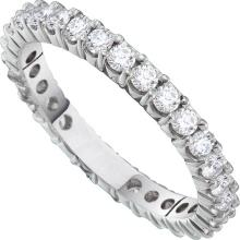 3 CTW Natural Diamond Eternity Anniversary Ring 14K White Gold - REF-281H3X