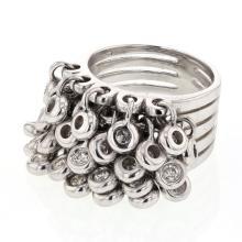 Genuine 1.16 CTW Diamond Motion  Ring in 14K White Gold - REF-189X5W