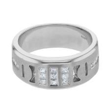 Genuine 0.67 CTW Diamond Fashion  Ring in 14K White Gold - REF-117W4H