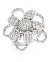Genuine 0.82 CTW Diamond Fashion  Ring in 14K White Gold - REF-132N6F