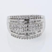 Genuine 0.94 CTW Diamond Fashion  Ring in 18K White Gold - REF-151A5N