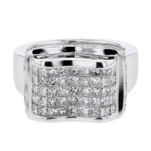 Genuine 1.91 CTW Diamond Fashion  Ring in 18K White Gold - REF-276H5R