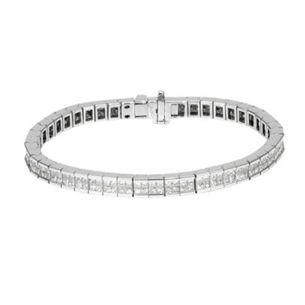 8.25 CTW Princess Diamond Bracelet 14K White Gold - REF-633H2M