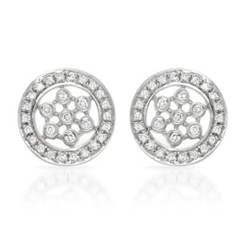 0.25 CTW Diamond Earrings 14K White Gold - REF-36Y4X