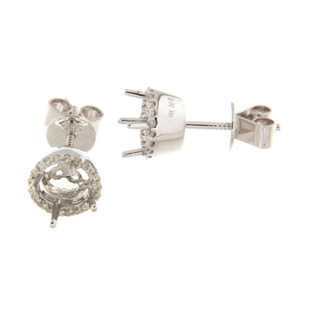 0.19 CTW Diamond Earrings 14K White Gold - REF-37K4W