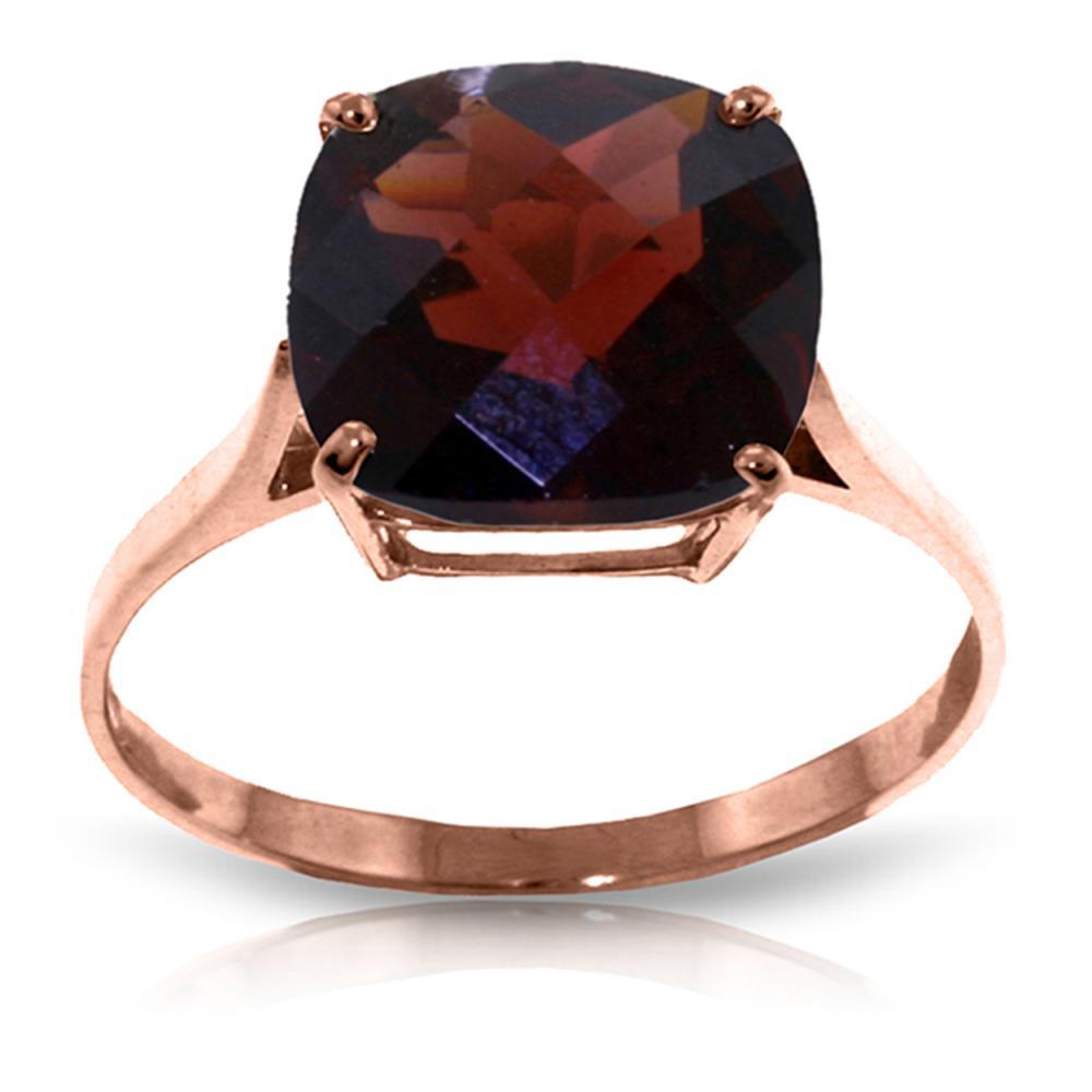 Genuine 4.5 ctw Garnet Ring Jewelry 14KT Rose Gold - REF-37P8H