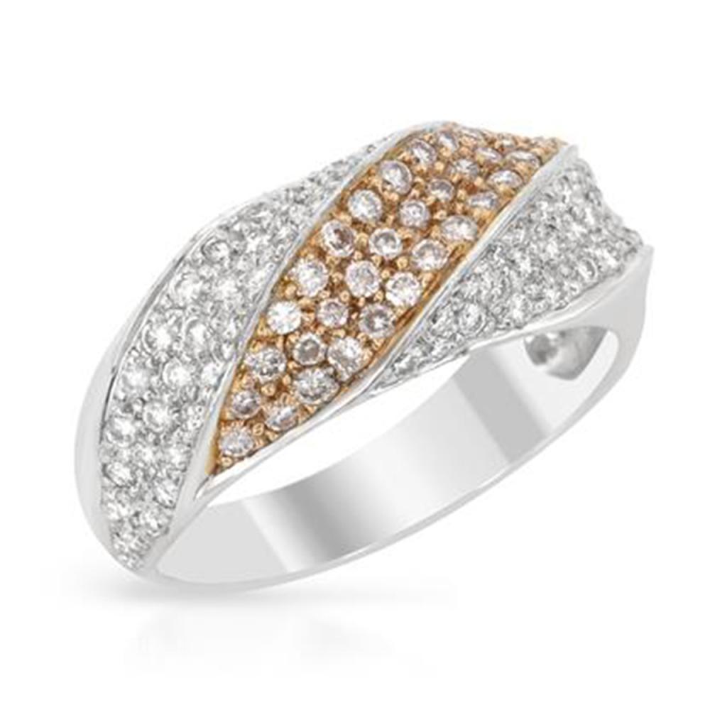 0.80 CTW Diamond Band Ring 18K 2Tone Gold - REF-77F6N