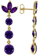 Genuine 8.7 ctw Amethyst Earrings Jewelry 14KT White Gold - REF-53W6Y