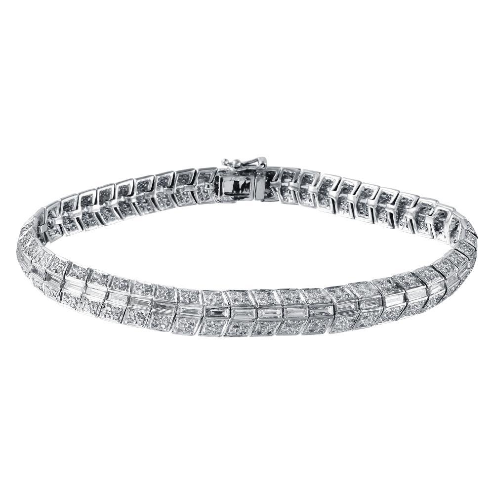 4.97 CTW Diamond Bracelet 14K White Gold - REF-469F2N