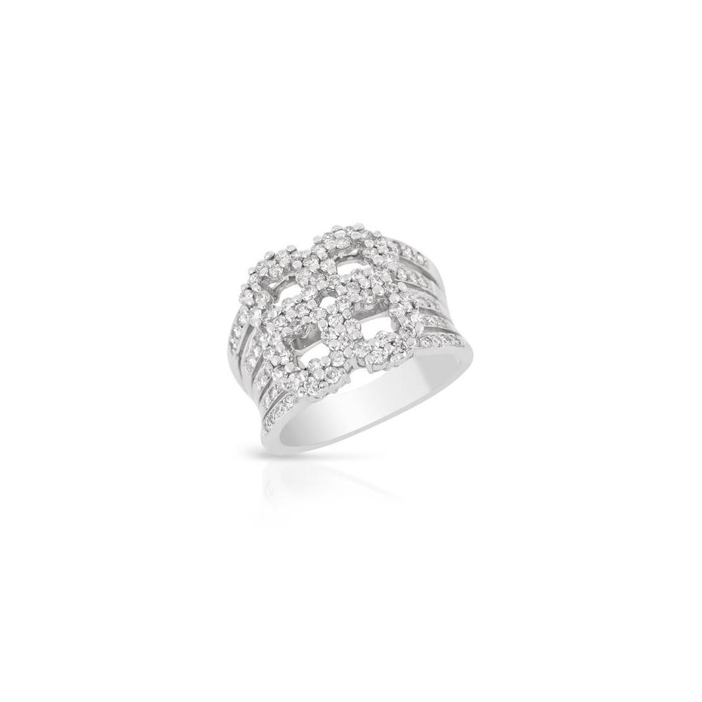 1.15 CTW Diamond Ring 18K White Gold - REF-160Y2X