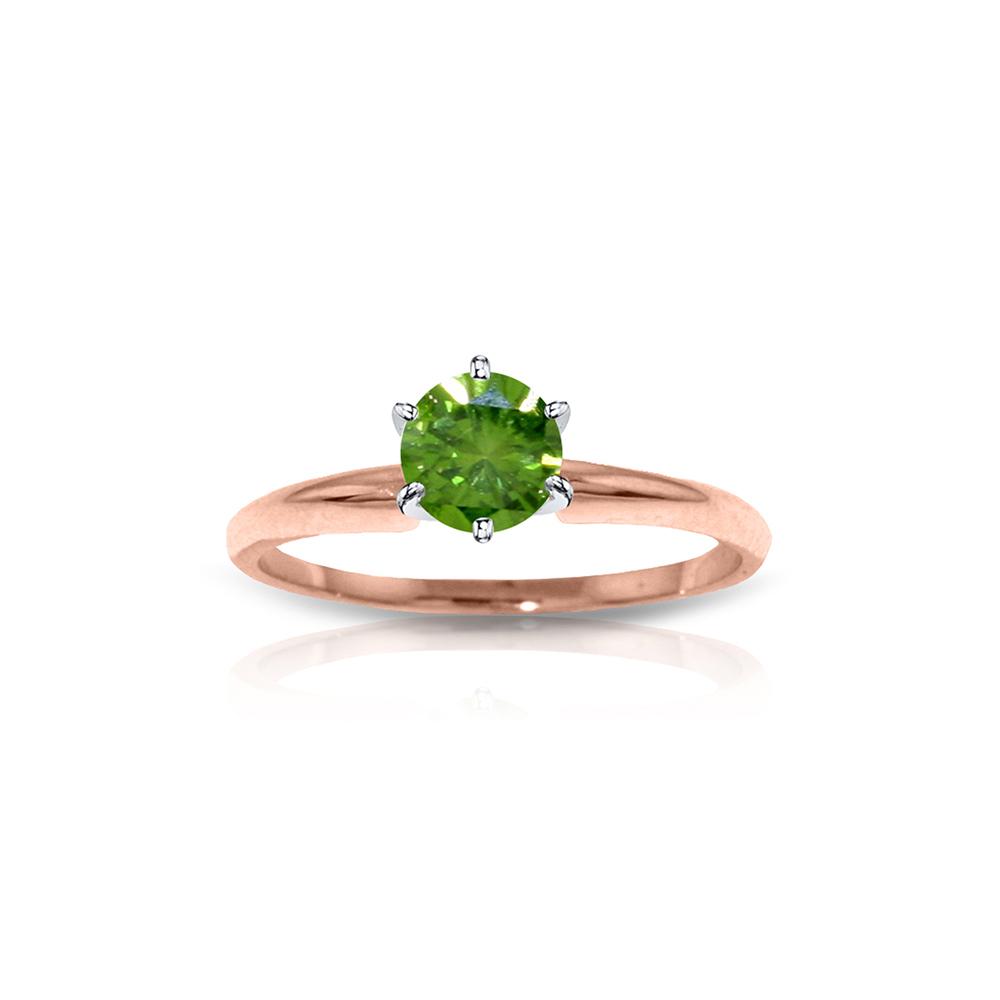 Genuine 0.50 ctw Diamond Anniversary Ring Jewelry 14KT Rose Gold - REF-132M9T