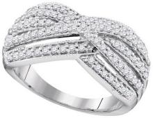 0.62 CTW Natural Diamond Band 10K White Gold - REF-64A5N