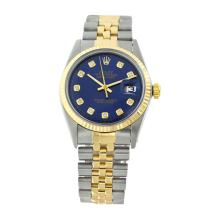 Rolex Men's 2Tone/SS 14K Band Diamond Dial Pre-owned