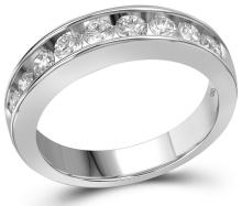 1 CTW Natural Diamond Band 14K White Gold - REF-149X9F