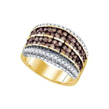 1.60 CTW Cognac-brown Colored Diamond Band 10K Yellow Gold - REF-139X9F