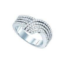0.73 CTW Natural Diamond Band 10K White Gold - REF-79X9F