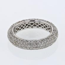 Eternity Pave-set Diamond Band in 14K White Gold - REF-131R3K