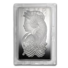 Genuine 10 oz 0.999 Fine Silver Bar - PAMP Suisse Fortuna