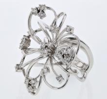Genuine 0.99 CTW Diamond Fashion  Ring in 18K White Gold - REF-196R9K