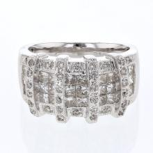 Genuine 1.43 CTW Diamond Fashion  Ring in 14K White Gold - REF-215H9R