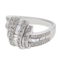 Genuine 0.85 CTW Diamond Fashion  Ring in 14K White Gold - REF-109X9W