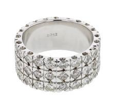 Genuine 3.82 CTW Diamond Fashion  Ring in 14K White Gold - REF-291F7M