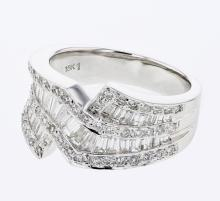 Genuine 1.43 CTW Diamond Fashion  Ring in 18K White Gold - REF-170Z5Y