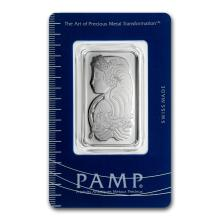Genuine 1 oz 0.9999 Fine Platinum Bar - PAMP Suisse