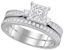 0.62 CTW Diamond Bridal Set Ring 14KT White Gold - GD104762-REF#116Y9Z