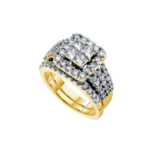 3.0 ctw Diamond Bridal Set Ring 14K Yellow Gold - GD52832-REF#485A8N