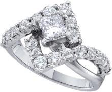 2.75 CTW Diamond Bridal Ring 14KT White Gold - GD40069-REF#338T3K