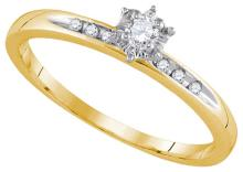 0.10 ctw Diamond Bridal Ring 14K Yellow Gold - GD92696-REF#23R3K