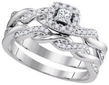 0.33 ctw Diamond Bridal Ring 10K White Gold - GD97260-REF#45T2Z