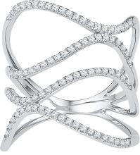 0.35 CTW Diamond Ladies Ring 10KT White Gold - GD108857-REF#32Z3T
