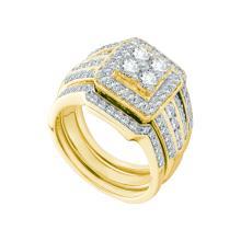 1.51 CTW Diamond Bridal Set Ring 14KT Yellow Gold - GD52422-REF#233R9H