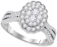 1 CTW Diamond Ladies Ring 10KT White Gold - GD109530-REF#134A9X