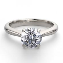 14K White Gold Jewelry 1.02 ctw Natural Diamond Solitaire Ring - REF#283N5W-WJ13211