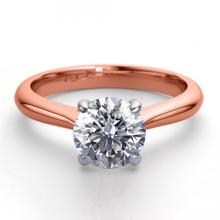 14K Rose Gold Jewelry 0.83 ctw Natural Diamond Solitaire Ring - REF#203W4K-WJ13241