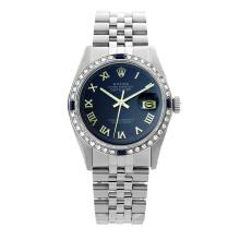 Rolex Pre-owned 36mm Mens Blue Stainless Steel - REF-580W2Y