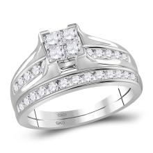 1 CTW Princess Diamond Bridal Engagement Ring 14KT White Gold - REF-89X9Y