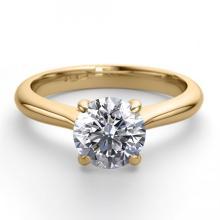 18K Yellow Gold Jewelry 1.36 ctw Diamond Solitaire Ring - REF#423G2K-WJ13270