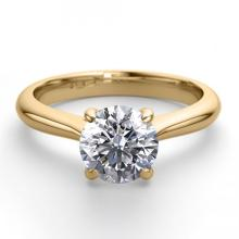18K Yellow Gold Jewelry 0.91 ctw Diamond Solitaire Ring - REF#263R2M-WJ13266
